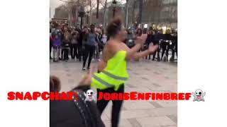 GILET JAUNE Danse sur les Champs Élysée 🤣😂