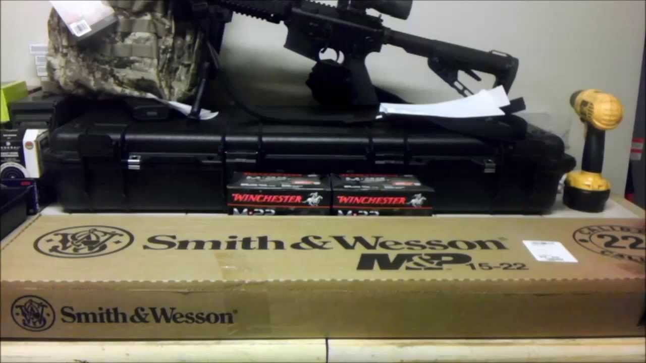 Smith And Wesson 12039 Unboxing: Smith And Wesson M&P 15-22 Unboxing 8/31/2013