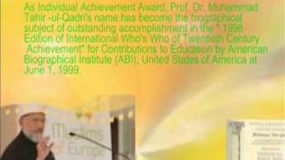 Awards of Dr Tahir ul Qadri (www.jhanzaib.co.nr)