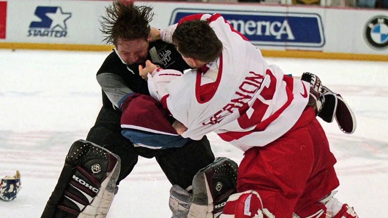 Bloody ice hockey fights