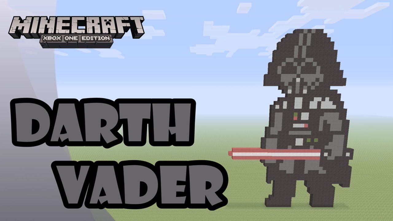 Minecraft Pixel Art Tutorial And Showcase Darth Vader Rogue One A Star Wars Story