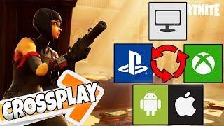 Cross Play FORTNITE TUTORIAL (Giocare da PS4, Mobile e XBOX One con amici da PC )