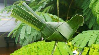 Hướng dẫn làm con chim bằng lá dừa đơn giản (c2) # TOITNT