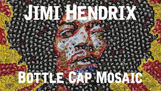 """Jimi Hendrix"" - Bottle Cap Mosaic"
