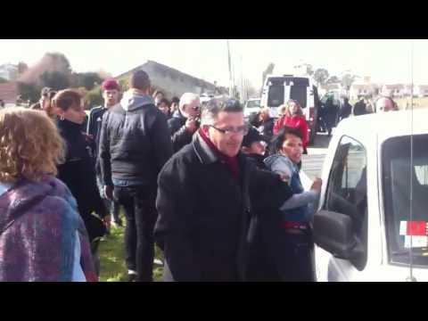 Incidentes y choques con la Policía en un acto de Macri en Mar del Plata