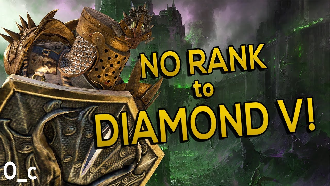 PC player on Console - NO RANK to DIAMOND 5 100% | For Honor
