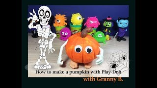 HOW TO MAKE A PUMPKIN WITH PLAY-DOH. By Granny B. (CKToysClub)