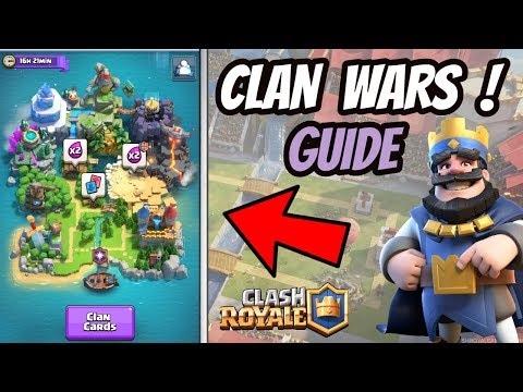 CLAN WARS CLASH ROYALE ! NEW UPDATE GUIDE - HINDI