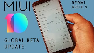 Install MIUI 10 Official Global Beta ROM on your Redmi Note 5/Redmi 5 Plus