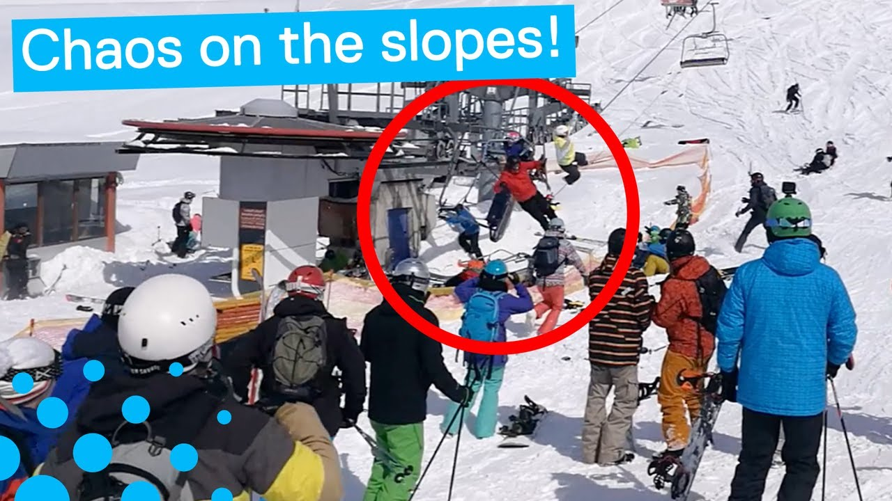 ski chair lift malfunction wood floors office wheels terrifying in georgia youtube
