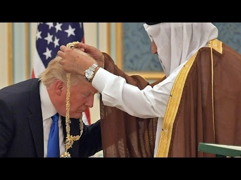 President Trump receives Saudi royal welcome