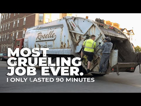 I was a Garbage Man for 90min - MOST GRUELING JOB EVER.