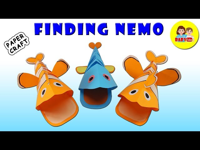 How To Make Finding Nemo | Paper Crafts Easy For Kids| Paper Fish