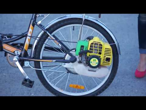 Веломотор Весна-Лайт | Cheap bicycle engine KIT