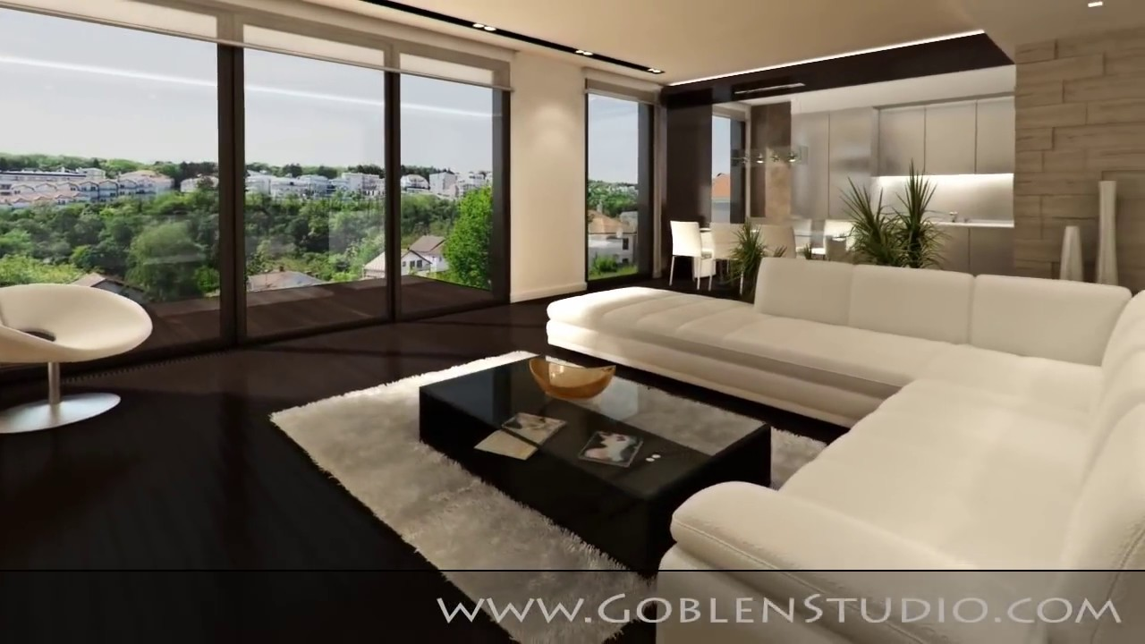 Modern Interior - 3D Animation - YouTube