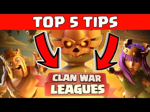 TOP 5 TIPS FOR CLAN WAR LEAGUES, CLASH OF CLANS INDIA