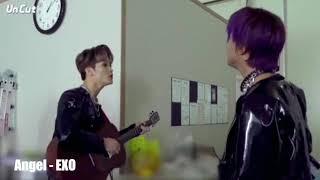 Mark, Haechan, Renjun, Chenle sing Angel EXO & Doyoung Jungwoo sing a lil bit Through The Night IU