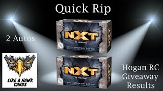 2016 Topps WWE Nxt Mini Boxes - 2 Autos & 2 Numbered Cards