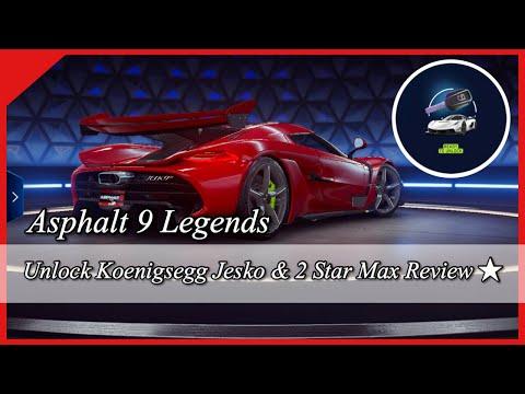 Asphalt 9 | Unlock Koenigsegg Jesko + 2 Star Max Review