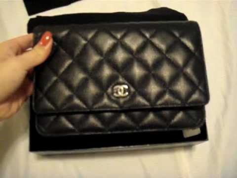 25d4606fe8a7 Classic Chanel WOC in Caviar - YouTube