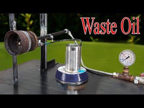 Homemade Waste Oil Burner Siphon Nozzle build