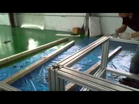t slot aluminum extrusion frame assembly video