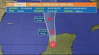 Tracking Cristobal: Storm watches issued for Gulf of Mexico, expected to strengthen later Friday