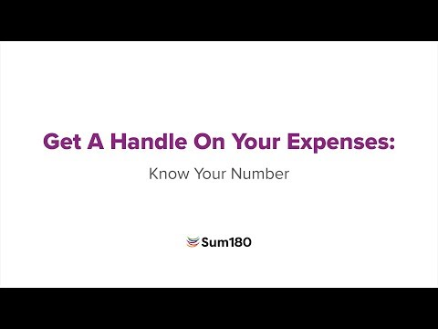 Get a handle on your expenses: Know your number