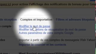 Comment changer le mot de passe gmail facilement