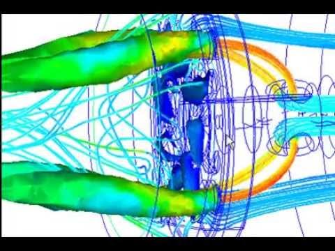 200 kW Gas Burner Simulation