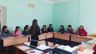 Экзамен уровень A1 и день рождение Жанны. Final exam A1 plus sing a song for Zhanna