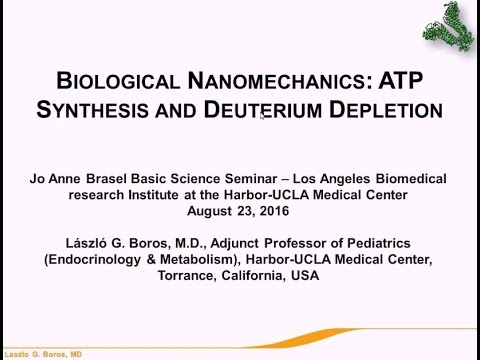 Biological Nanomechanics: ATP Synthesis and Deuterium Depletion