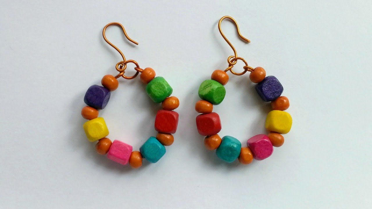 Create Cool Wire And Wooden Bead Earrings Diy Style