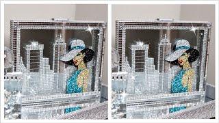 Diy Glam  Skyline Wall Decor   Dollar Tree Frames   collab w/ Creative Living Lifestyles