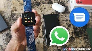 Fitbit Versa 2 - Day 4 - Phone Calls, Messaging (SMS, Whatsapp)