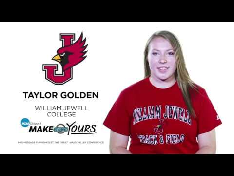 GLVCisME: Taylor Golden, William Jewell Track & Field
