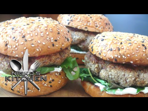 Pork Sausage Burgers - Video Recipe