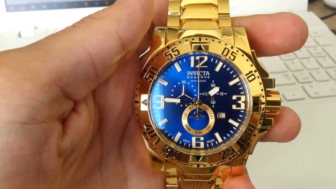 f7f5d641385 VENDO RELÓGIO INVICTA OURO 18K ORIGINAL - YouTube