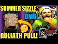 ANOTHER SUMMER SIZZLE PACK OPENING! GOLIATH PULL! + GOLIATH PLATINUM PACK & MORE! WWE SuperCard S4!
