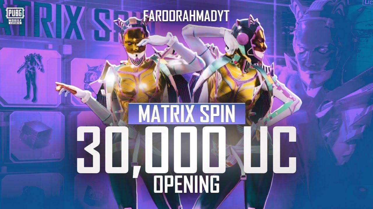 New Matrix Spin 30,000 UC | Hypnospace Diva Set | 🔥 PUBG MOBILE🔥