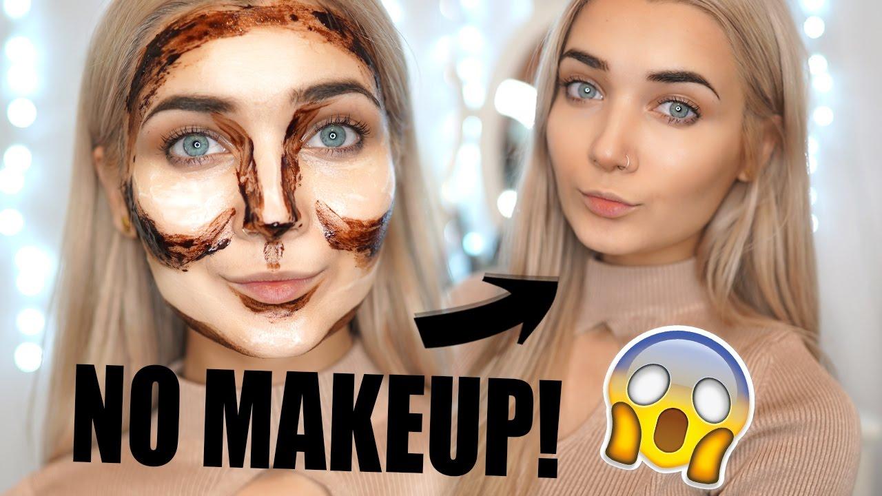diy semi permanent highlight contour no makeup youtube