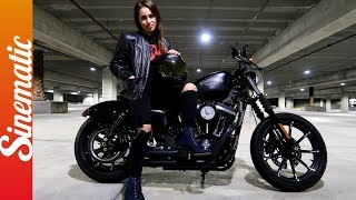 MY FIRST TIME ON A MOTORCYCLE!   HARLEY DAVIDSON (IRON 883)