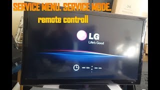 LG SERVICE MODE. ALL LG LED LCD PLASMA. how to make a remote control to access service mode. LG TV.
