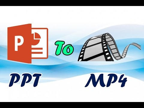 How TO Convert A Powerpoint Presentation PPT  Into A Video MP4 Full HD