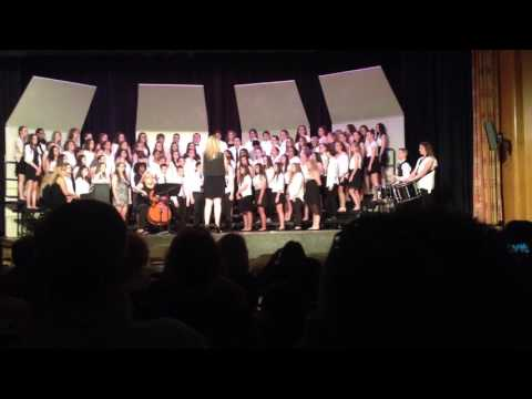 2016 Strough 8th Gr Spring Chorus - Fight Song w/ Amazing Grace