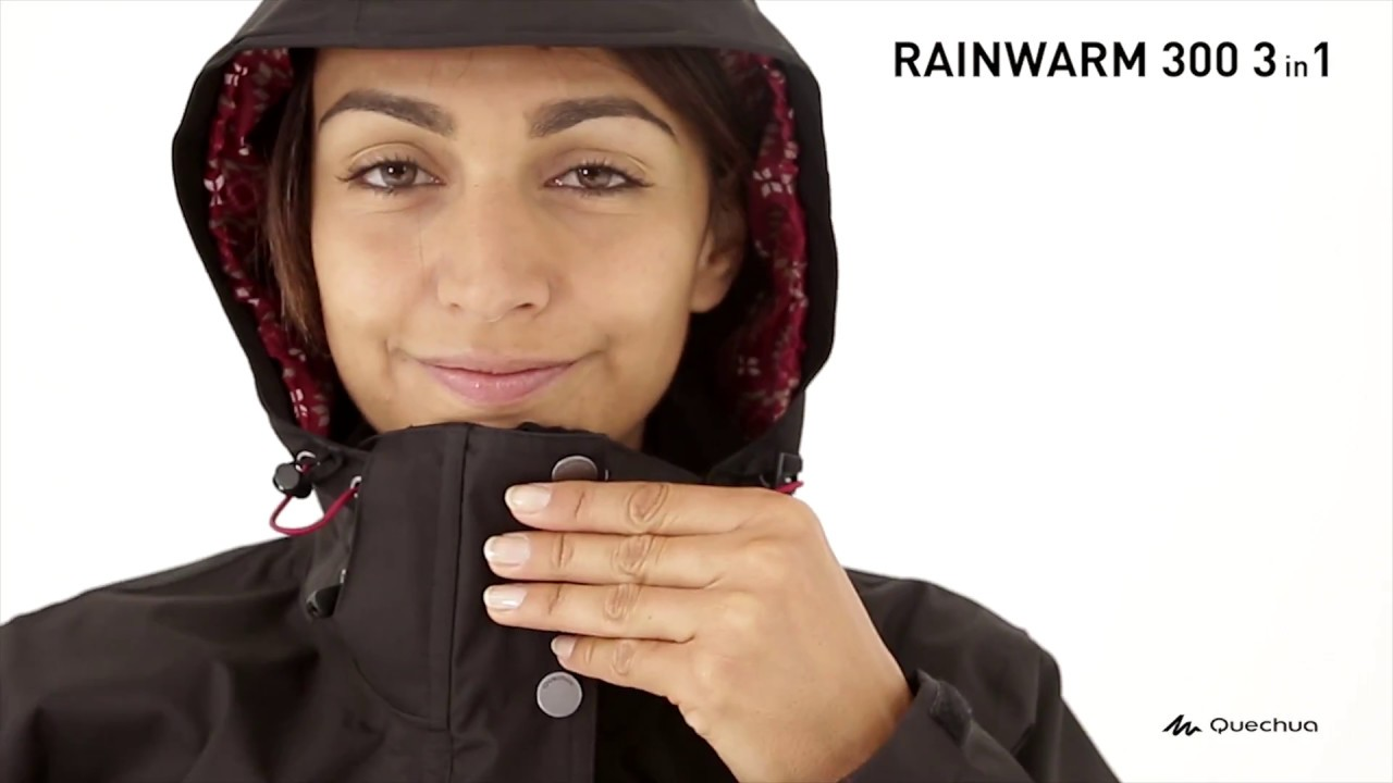 f71033db1 Jaqueta Trilha RainWarm 300 Feminina 3 em 1 - Exclusividade Decathlon