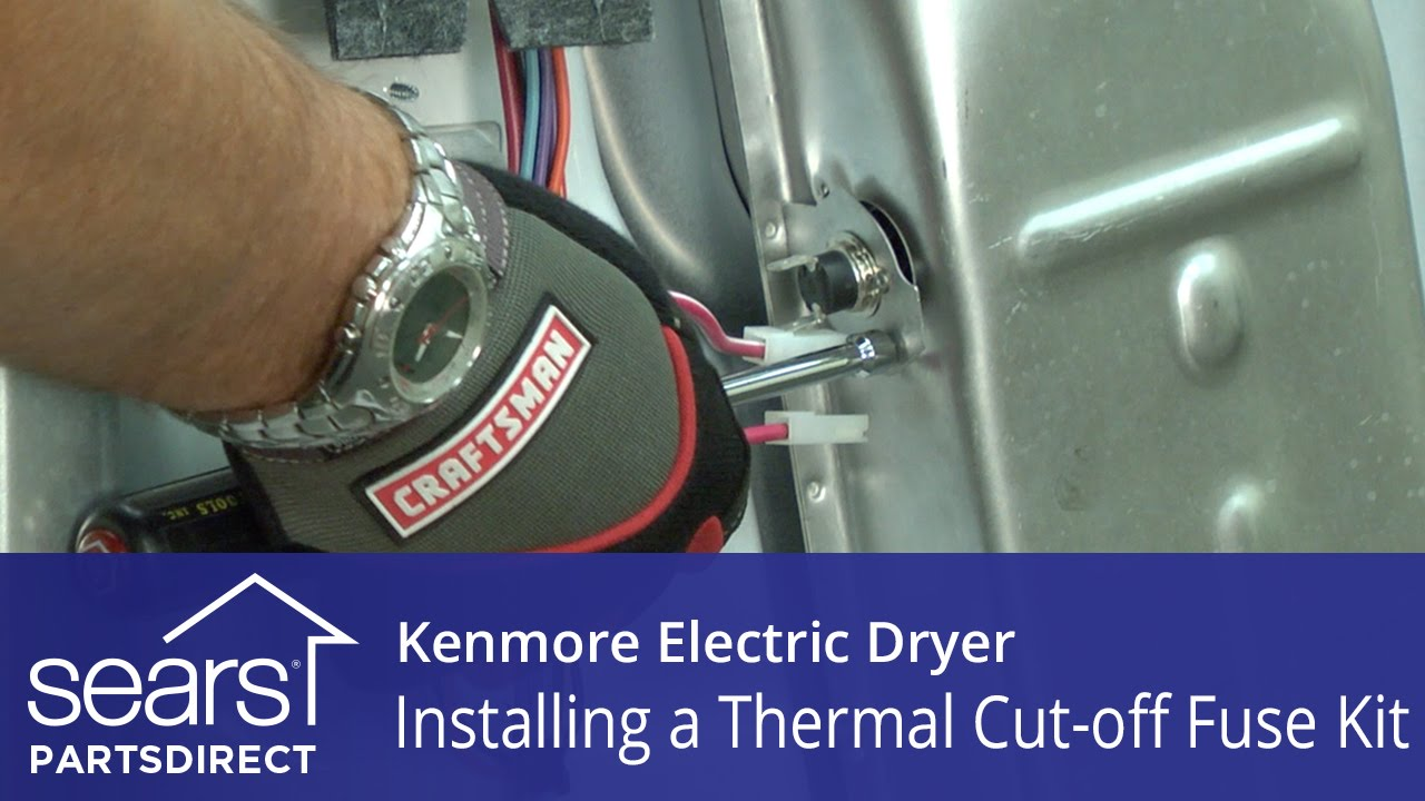 How to Replace a Kenmore Electric Dryer Thermal Cut-off Fuse Kit Kenmore Mod Wiring Diagram on