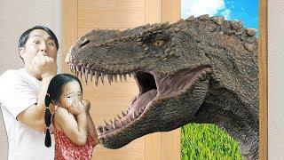 마법의 문으로 들어가요! 상어 공룡 시대 키즈 장난감 모험 magic door adventure for kids #리틀조이