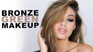 Bronze Green Summer Makeup Tutorial   Full Talk Through   Eman