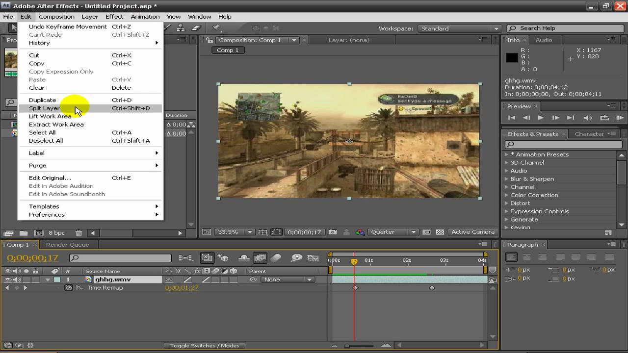 Adobe after effects cs4 tutorial ram previewing your footage.